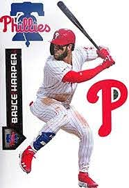 Amazon Com Teammate Bryce Harper Fathead Phillies Logo Set Official Mlb Vinyl Wall Graphics 17 Inch Kitchen Dining