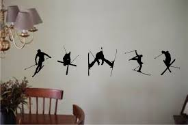 Nordic Cross Country Skier Wall Decal Easy To Apply Long Lasting Krazy Signs Usa Inc
