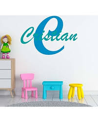 New Savings On Boy S Custom Name And Initial Wall Decal Choose Your Own Name Initial And Letter Styles Multiple Sizes Custom Boy S Name Wall Vinyl Decal Sticker Vinyl Decor Wall Decor Boy S