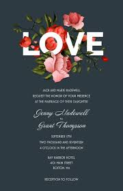 Floral Wedding Invitations Vistaprint Arreglos Y San Valentin