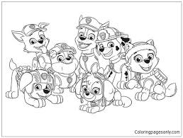 Paw Patrol Characters Coloring Page Free Coloring Pages Online