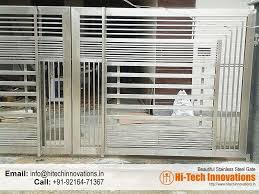 Stainless Steel Gate Ht Ssg 004 Stainless Steel Gate Steel Gate Design Steel Gate