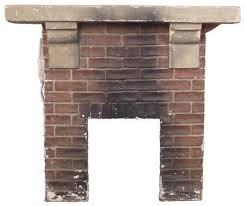 clean a concrete fireplace mantel