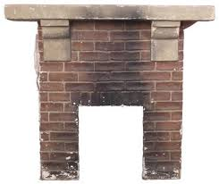 clean a concrete fireplace mantel