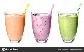 Glasses with different protein shakes — Stock Photo © belchonock ...
