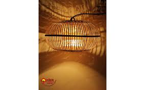 Đèn tre đan kết hợp đèn led vàng tạo ánh sáng đẹp cho trang trí nhà hàng-  Đèn Lồng Xưa|Xưởng đèn lồng Hội An