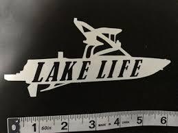 Lake Life Decal Sticker Wakeboard Wakeskate Wakesurf Boat For Sale Online Ebay