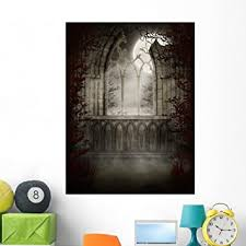 Amazon Com Wallmonkeys Gothic Ruins Autumn Trees Wall Mural Peel And Stick Graphic 48 In H X 36 In W Wm194831 Home Kitchen