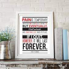 Eric Thomas Quote Pain Is Temporary Motivational Quote Wall Art Prin Wallvibes