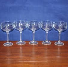 vintage diana champagne glasses