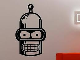 Futurama Vinyl Sticker Bender Wall Decal Cartoon Movie Robot Art Room Decor 5qsz Ebay