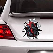 Amazon Com Donl9bauer Deadpool Car Sticker 3d Decal Funny Sticker Home Improvement