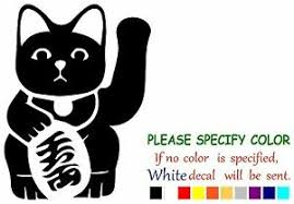 Maneki Neko Japanese Lucky Cat Funny Vinyl Decal Sticker Car Window Laptop 11 Ebay