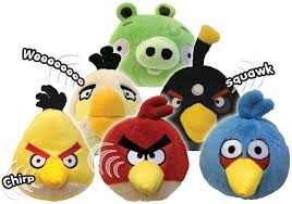 Amazon.com: Angry Birds Plush 5-Inch Red Bird with Sound ...