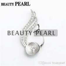 2020 pearl pendant findings blanks 925