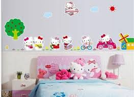 New Flower Fairy Girl Wall Stickers Home Decor Girls Room Baby Roms Independence