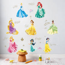 Best Price 84d3 Lovely Dancing Princess Wall Stickers For Kids Room Children Bedroom Cup Bag Wall Decals Girl S Birthday Gift Poster Mural Cicig Co
