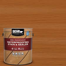 Behr Premium 1 Gal St 533 Cedar Naturaltone Semi Transparent Waterproofing Exterior Wood Stain And Sealer 553301 The Home Depot