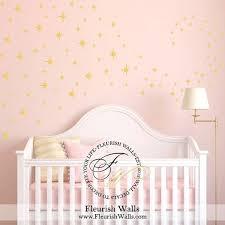 Gold Star Wall Decal 8point Confetti Star Decal Baby Girl Nursery Wall Decals Baby Boy Nursery Decor Star Wall