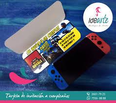 Idearte Tarjeta En Forma De Consola Nintendo Switch Con