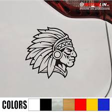 Indian Chief Native American Decal Sticker Car Vinyl Pick Size Color No Bkgrd