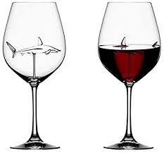 shark red wine crystal glass
