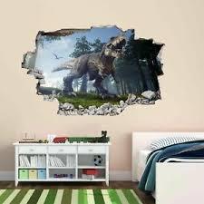 Dinosaur Jungle 3d Wall Sticker Mural Decal Print Art Kids Room Home Decor Bh22 Ebay