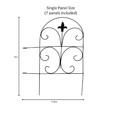 Vigoro 18 In Romantic Steel Garden Fence 51032 The Home Depot