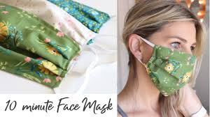 DIY Face Mask with Elastic in 10 ...