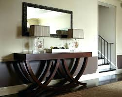 hallway mirror and table hall console