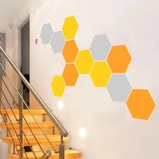 12 Honeycomb Wall Decal Geometric Hexagons Vinyl Wall Stickers Home Decor Three Color Combinations Each Size 24x28cm D625 Stickers Home Decor Vinyl Wall Stickerswall Sticker Aliexpress