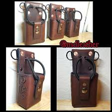 radio strap holster leather gear