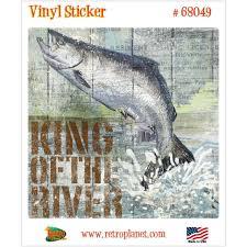 King Salmon Fishing Open Season Vinyl Sticker Laptop Bumper Decal For Sale Online Ebay
