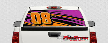 Racing Team Number Truck Window Decal 1
