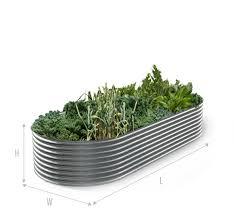colorbond slimline raised garden bed