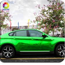 China Tsautop Mirror Chrome Vinyl Car Decal Green Electroplate Film Roll China Vinyl Stickers For Cars Water Proof Material Car Wrap Vinyl