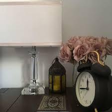 bedroom sidetable clock quran flowers pink aesthetics pink
