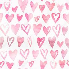 pattern with pink hearts light