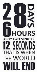 28 Days 6 Hours Forty Two Minutes 12 Seconds Donnie Darko Wall Decal Quote 20x39 Ebay