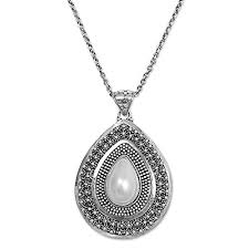 mabe pearl 925 silver necklace