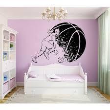 Shop Basketball Wall Decals Girl Basketball Player Decal Sport Wall Vinyl Sticker Home Mural Sticker Decal Size 22x30 Color Black Overstock 14323240