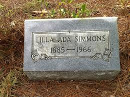 Lilla Ada Simmons (1885-1966) - Find A Grave Memorial