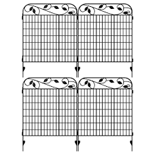 Amagabeli Metal Garden Fence Border 44 X 36 X 4 Pack Heavy Duty Tall Rustproof Decorative