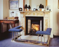 fire fender seats and fireplace