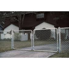 4 Ft H X 10 Ft W Vinyl Coated Steel Chain Link Fence Gate In The Chain Link Fence Gates Department At Lowes Com