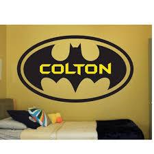 Batman Name Wall Quote Sign Vinyl Decal Sticker Bat Man Etsy