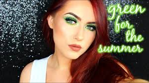 bright green eye makeup tutorial