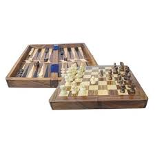 chess and backgammon in box nautic gifts