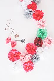 fun and festive tissue paper flowers • a subtle revelry