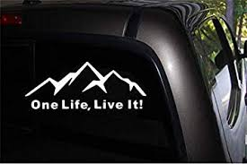 Amazon Com One Life Live It W Decal Sticker Cars Trucks Suv Window Decal 6 Wide X 4 High White Automotive